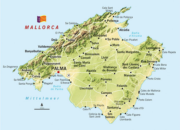 mallorca kart Mallorca kart – Mallorca reiseguide
